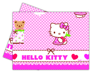 Hello Kitty Plastduk str. 120x180 cm