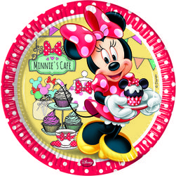 "Minnie Mus ""Minnie's Cafe"" Papptallerkner, store (23 cm)"