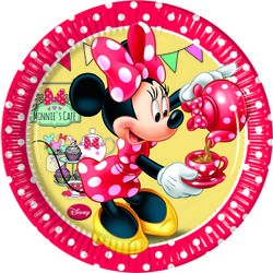 "Minnie Mus ""Minnie's Cafe"" Papptallerkner, medium (20 cm)"