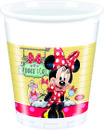 "Minnie Mus ""Minnie's Cafe"" Plastkopper, 200ml (8 stk)"