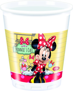 "Minnie Mus ""Minnie's Cafe"" Plastkopper,  200ml (8 stk) (126-82672)"