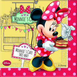 "Minnie Mus ""Minnie's Cafe"" Servietter - 20 stk"