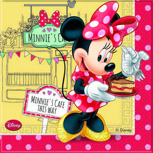 "Minnie Mus ""Minnie's Cafe"" Servietter - 20 stk (126-82673)"