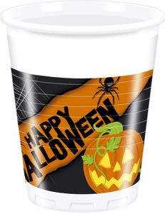 Halloween Plastkopper,  200ml (8 stk) (126-81942)