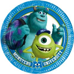 Monsters, Inc Papptallerkner, store (23 cm)