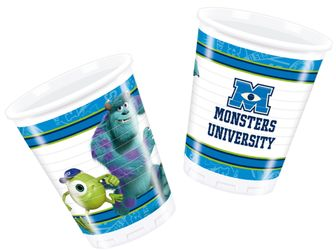 Monsters, Inc Plastkopper, 200ml (8 stk)