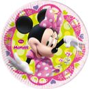 Minnie Mus Sløyfe Papptallerkner, medium (20 cm)