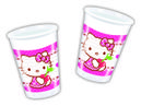 Hello Kitty Plastkopper, 200ml (8 stk)