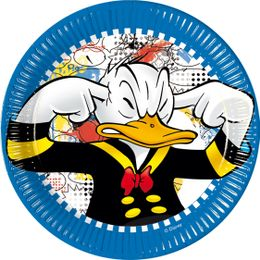 Donald Duck Papptallerkner, medium (20 cm)