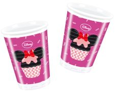 Minnie Mus Cupcakes Plastkopper, 200ml (8 stk)