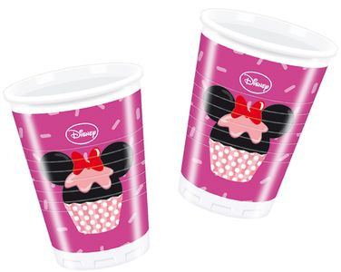 Minnie Mus Cupcakes Plastkopper,  200ml (8 stk) (126-81494)