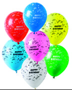 Happy Birthday Latex ballonger (6 stk)