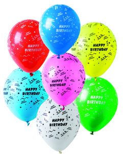 Happy Birthday Latex ballonger (6 stk) (126-3822)