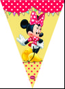 """Minnie Mus """"Minnie's Cafe"""" Vimpel med 11 flagg"""
