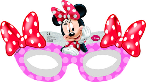 "Minnie Mus ""Minnie's Cafe"" Papirmasker - 6 stk (126-82680)"