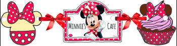 "Minnie Mus ""Minnie's Cafe"" Siluett-banner - 1 stk"