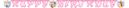 "Prinsesse ""Happy Birthday""- banner (1stk)"