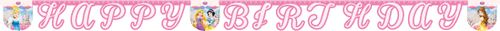 "Prinsesse ""Happy Birthday""- banner (1stk) (126-81582)"