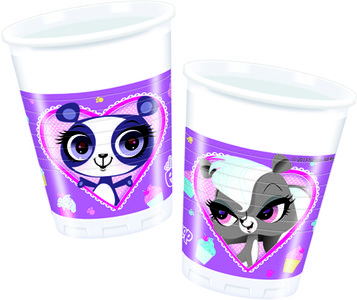 Littlest Petshop Plastkopper,  200ml (8 stk) (126-82232)