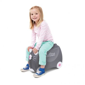 Trunki Barnekoffert Benny, Grå katt (107-0180-GB01)