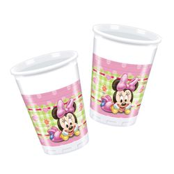 Minnie Mus Baby Plastkopper 200ml, 8 stk
