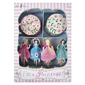 Meri Meri Cupcake Kit, Princess (24stk) (230-45-0798)