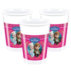 Frozen Plastkopper, 200ml (8 stk)