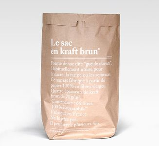 "Paperbag Brown  66L ""Le-sac-en-kraft-brun"""