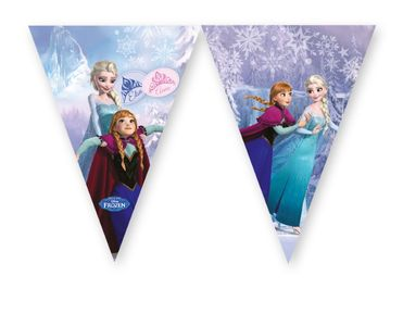 Frozen Ice Skating Triangel flaggbanner,  1 stk (126-85438)