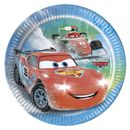 Cars Ice Papptallerkner, medium (20 cm)