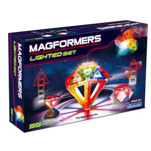 Magformers Lighted Sett (LED), 55deler (125-3011)