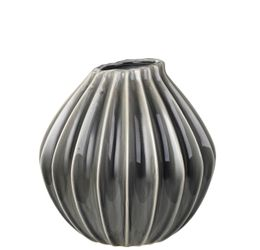 Broste Copenhagen Vase Wide Smoked_pearl, Medium