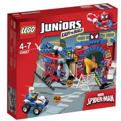 Lego® Juniors Spiderman's skjulested med helikopter