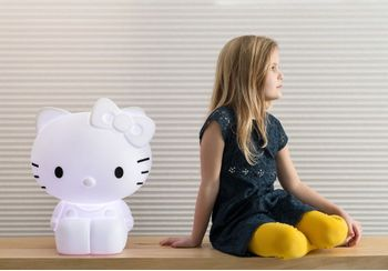 Hello Kitty LED lampe med fjernkontroll