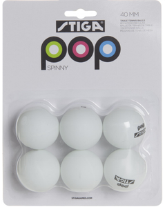 Stiga Bordtennisballer - Pop Spinny (280-76-1352-06)