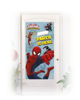 Ultimate Spiderman Web Warriors Dekorativ dørbanner,  1 stk (126-85145)