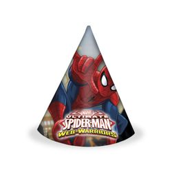 Ultimate Spiderman Web Warriors Festhatter m/motiv (6 pk)