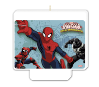 Ultimate Spiderman Web Warriors Dekorlys - 1 stk