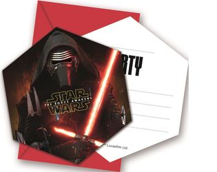 Star Wars The Force Awakens Invitasjoner - 6 stk