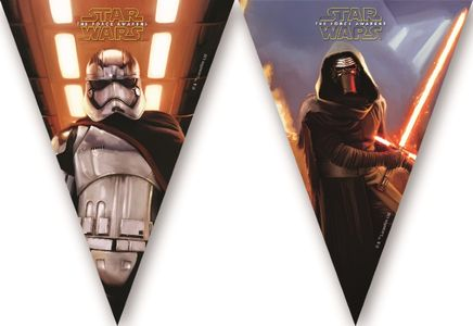 Star Wars The Force Awakens Flaggbanner - dekorativ pynt (126-86222)