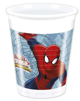 Ultimate Spiderman Web Warriors Plastkopper,  200ml (8 stk) (126-85153)