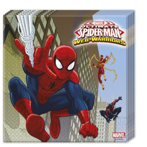 Ultimate Spiderman Web Warriors Servietter - 20 stk (126-85154)