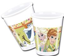Frozen Fever Plastkopper, 200ml (8 stk)