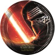 Star Wars The Force Awakens Papptallerkener, store (23cm) 8stk