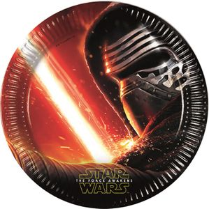 Star Wars The Force Awakens Papptallerkener,  store (23cm) 8stk (126-86210)
