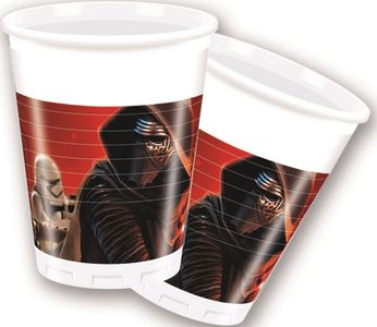 Star Wars The Force Awakens Plastkopper,  200ml (8 stk) (126-86213)