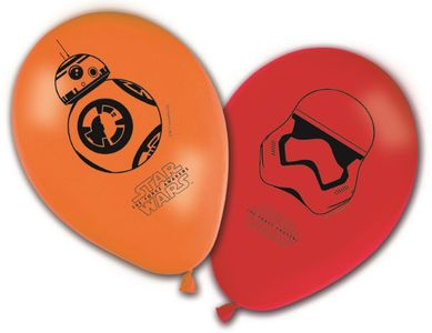 Star Wars The Force Awakens Ballonger med motiv (8stk) (126-86228)