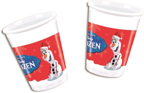 Olaf Christmas Plastkopper, 200ml (8 stk)