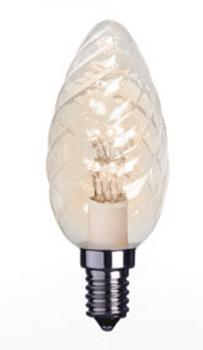 Lyspære LED Klar Varmhvit, E14 (205-L156)