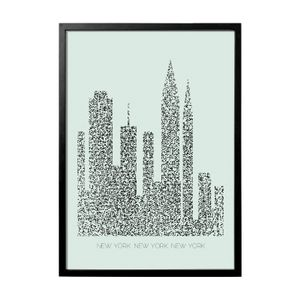 Bloomingville Print med ramme New-York (152-50500059)